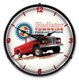 LED Lighted Jeep Gladiator Townside Pickup Clock