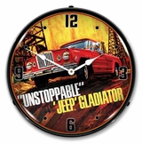 LED Lighted Jeep Gladiator Unstoppable Clock