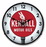 LED Lighted Kendall Motor Oil 3 Clock