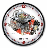LED Lighted LS6 454 v8 Clock