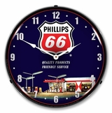 LED Lighted Phillips 66 Gas Station 1 Clock
