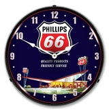 LED Lighted Phillips 66 Gas Station 2 Clock