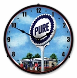 LED Lighted Pure Gas Station Clock