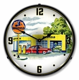 LED Lighted Richfield Station 1960s Clock