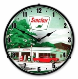 LED Lighted Sinclair Gas Station 2 Clock
