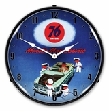 LED Lighted Union 76 Minute Man Service Clock