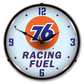LED Lighted Union 76 Racing Fuel Clock