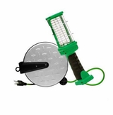 LED Work Light Reel, 72 LEDs, with Metal Housing, 16/3 30' Cord, On/Off Switch