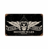 Lethal Motorcycles Metal Sign