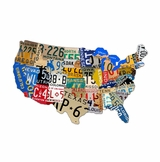 License Plate Usa Metal Sign