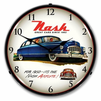 Lighted 1950 Nash Clock