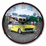 LED Lighted 1955 Bel Air Mitch's Garage Clock