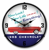 LED Lighted 1955 Chevrolet New Look Clock