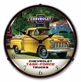 LED Lighted 1955 Chevrolet Truck Task Force Clock