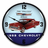 LED Lighted 1955 Chevrolet Two Ten Clock