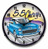 LED Lighted 1955 Chevy Clock