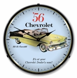 LED Lighted 1956 Chevrolet Bel Air Convertible Clock