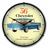 LED Lighted 1956 Chevrolet Nomad Clock