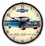 LED Lighted 1957 Chevrolet Bel Air Clock