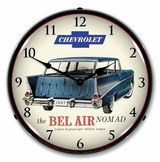 LED Lighted 1957 Chevrolet Bel Air Nomad Clock