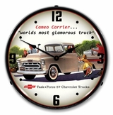 LED Lighted 1957 Chevrolet Cameo Truck Clock