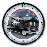 LED Lighted 1957 Chevy Esso Clock