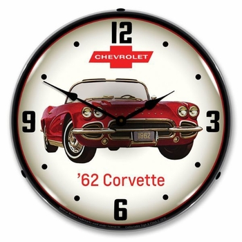 LED Lighted 1962 Corvette Clock