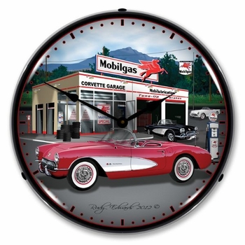 LED Lighted 1957 Corvette Clock