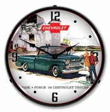 LED Lighted 1958 Chevrolet Truck Clock