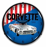 LED Lighted 1958 Corvette Clock
