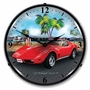 LED Lighted 1973 Corvette Clock
