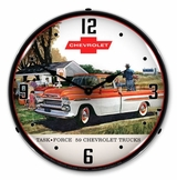 LED Lighted 1959 Chevrolet Task Force Truck Clock
