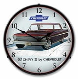 LED Lighted 1963 Chevy II Nova Super Sport Clock