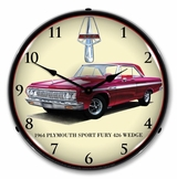 LED Lighted 1964 Plymouth Sport Fury Clock