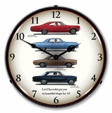 LED Lighted 1965 Chevrolet Lineup Clock