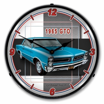 LED Lighted 1965 GTO Clock