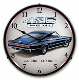 LED Lighted 1966 Charger Hemi Clock
