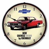 LED Lighted 1966 Chevelle SS 396 Clock