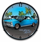 LED Lighted 1966 Nova ( blue ) Clock