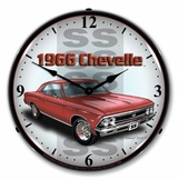 LED Lighted 1966 SS Chevelle Clock