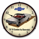 LED Lighted 1967 Chevrolet El Camino Clock