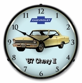 LED Lighted 1967 Chevy II Nova Super Sport Clock
