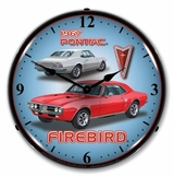 LED Lighted 1967 Firebird Clock