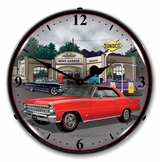 LED Lighted 1967 Nova ( red ) Clock