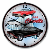 LED Lighted 1968 Chevelle Clock