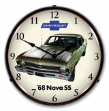 LED Lighted 1968 Nova Super Sport Clock