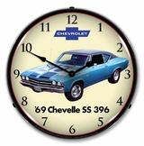 LED Lighted 1969 Chevelle SS 396 Clock
