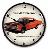 LED Lighted 1969 Plymouth Road Runner Clock