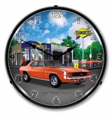 LED Lighted 1969 RS SS Camaro Sunoco Clock