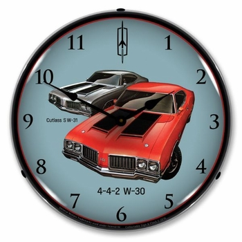 LED Lighted 1970 442 W-30 and W-31 Clock